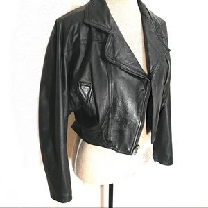 Perfect vintage 80's leather motorcycle jacket